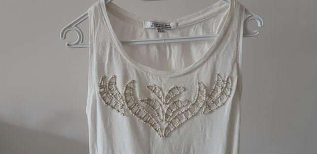 Bershka sukienka letnia z koralikami S