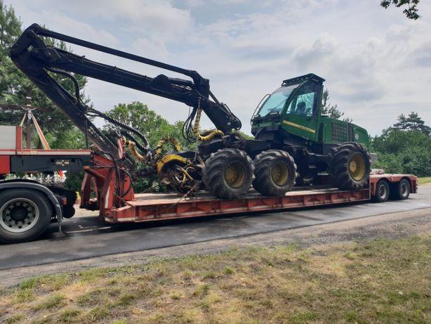 Transport maszyn kombajnów forwarder harvester timberjack ładowarek