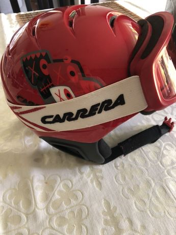 Kask dziecięcy Carrera z goglami