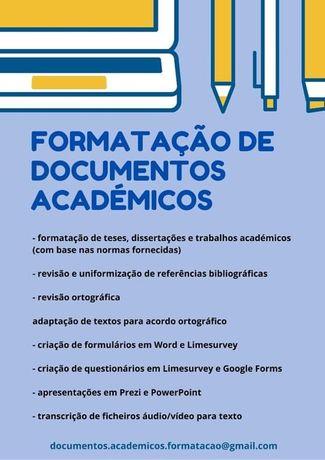 Formatação de trabalhos académicos/teses/dissertações