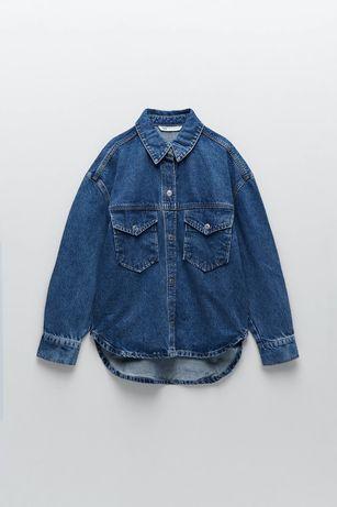 Zara 36 kurtka jeansowa koszula oversize nowa