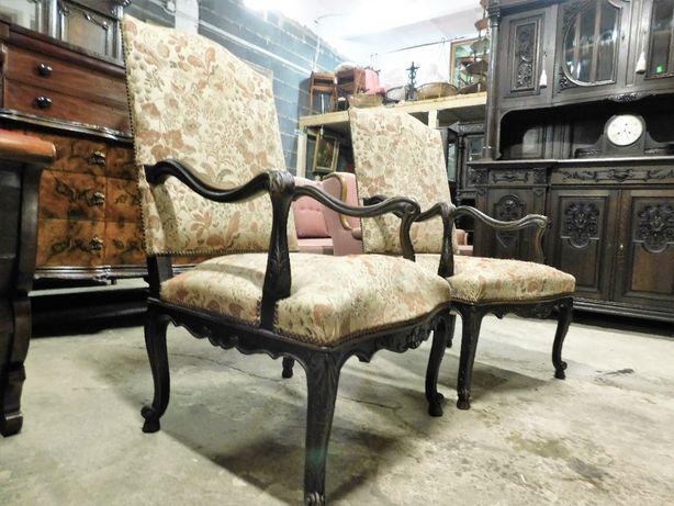 Antyk Stary Piękny Fotel Ciekawa forma Duży