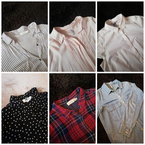 Koszule S/M stan bardzo dobry H&M, stradivarius, bershka, cropp