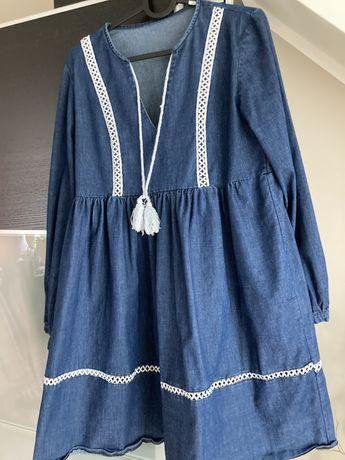 Tunika sukienka ciazowa jeans jeansowa m
