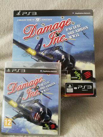 Damage inc. Pacific squadron WWII gra ps3 + pad joystick playstation