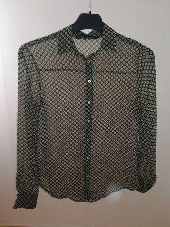 Wzorzysta koszula z kołnierzykiem Zara
