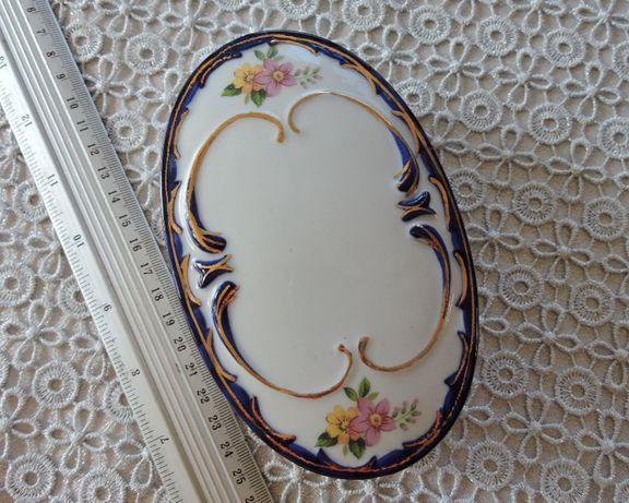 Puzdro w szafirze kobalt z porcelany