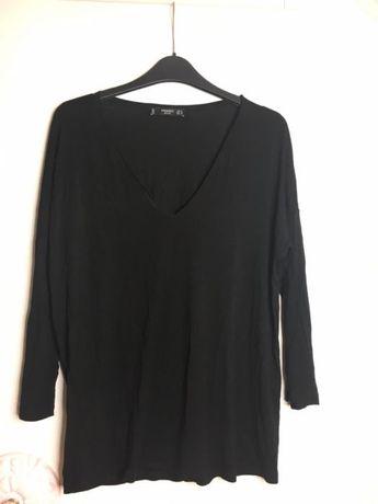 Miękka koszula czarna, bluzka z długim rękawem Mango