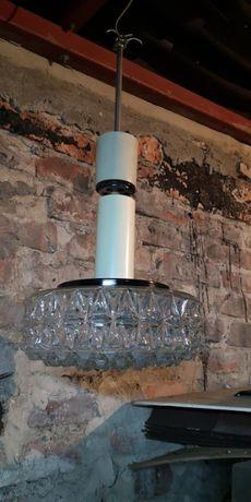 Lampa żyrandol kryształowy z PRL vintage retro old loftowy