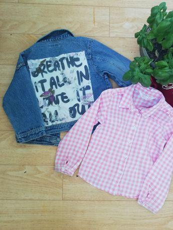 Куртка и рубашка для девочки. Комплект