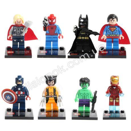 Конструктор супер-герои (8 шт.) совместимы с оригинальным lego
