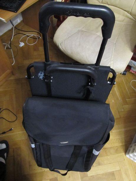 Torba Wózek na kółkach na zakupy z krzesłem siedziskiem Firmy Andersen