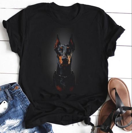 Koszulka bluzka t-shirt pies doberman S-XXL