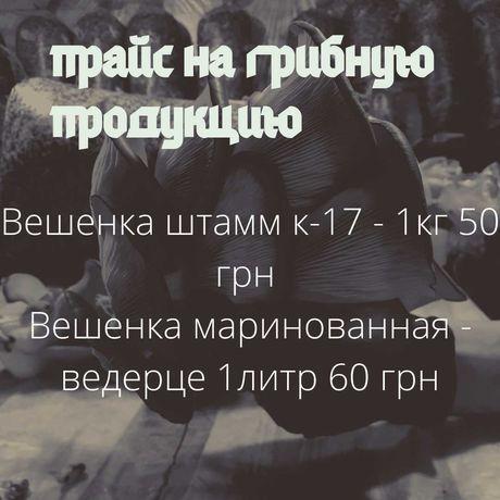 Грибы Вешенка свежие и маринованные!!