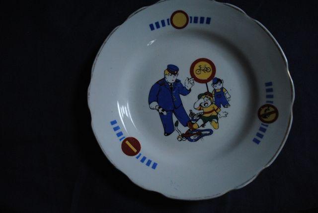 Редкая тарелка детская СССР