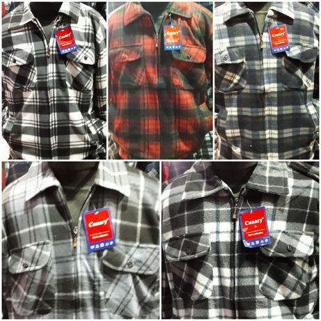 Мужские рубашки на меху. 46, 48, 50, 52.