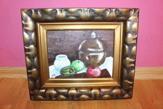 Stary obraz, owoce