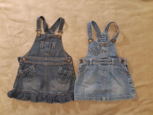 Sukienki ogrodniczki jeansowe rozm.98