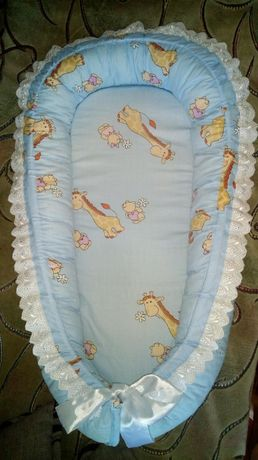 Гнездышко-позиционер кокон + одеялко-конверт для новорожденных