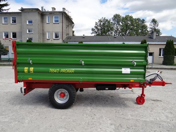Przyczepa PRONAR T654/2 jednoosiowa ładowność 5 t raty duży RABAT