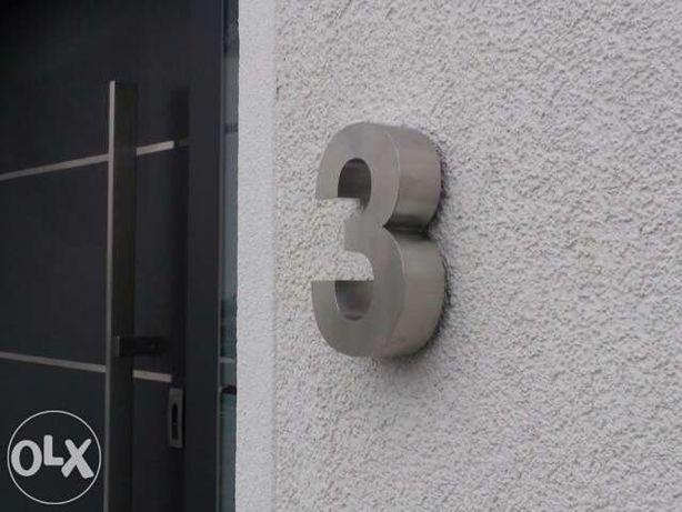 Números residenciais de Inox - Nr. 3 em 3D para Portas ou Entradas