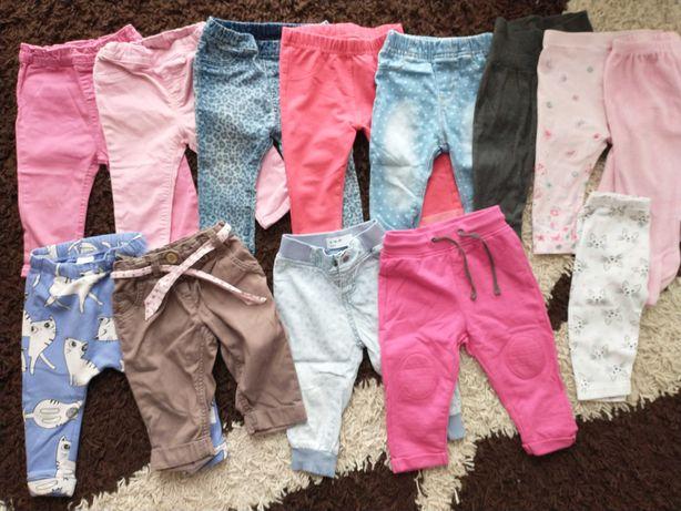 Paka spodnie dresy 74 dziewczynka