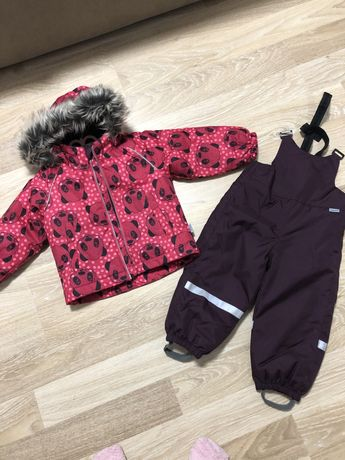 Lassie 86см зимний комплект полукомбинезон и куртка