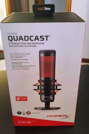 Microfone de Condensador HyperX QuadCast Gaming USB - Como Novo!