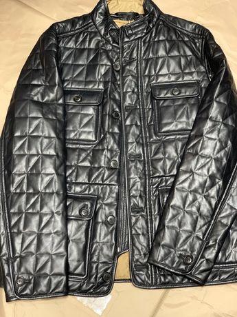Продам шкіряну подовжену куртку піджачного покрою