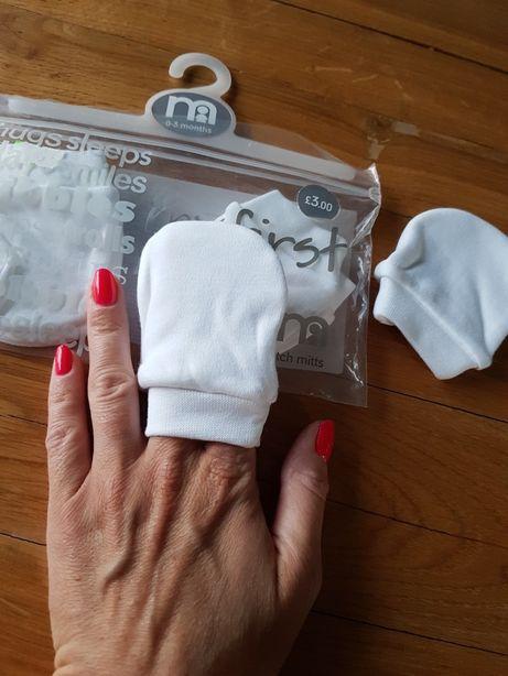Niedrapki ochraniacze na rączki niemowlaka