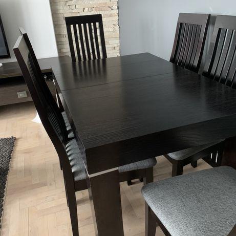 Stół, krzesla i stolik kawowy