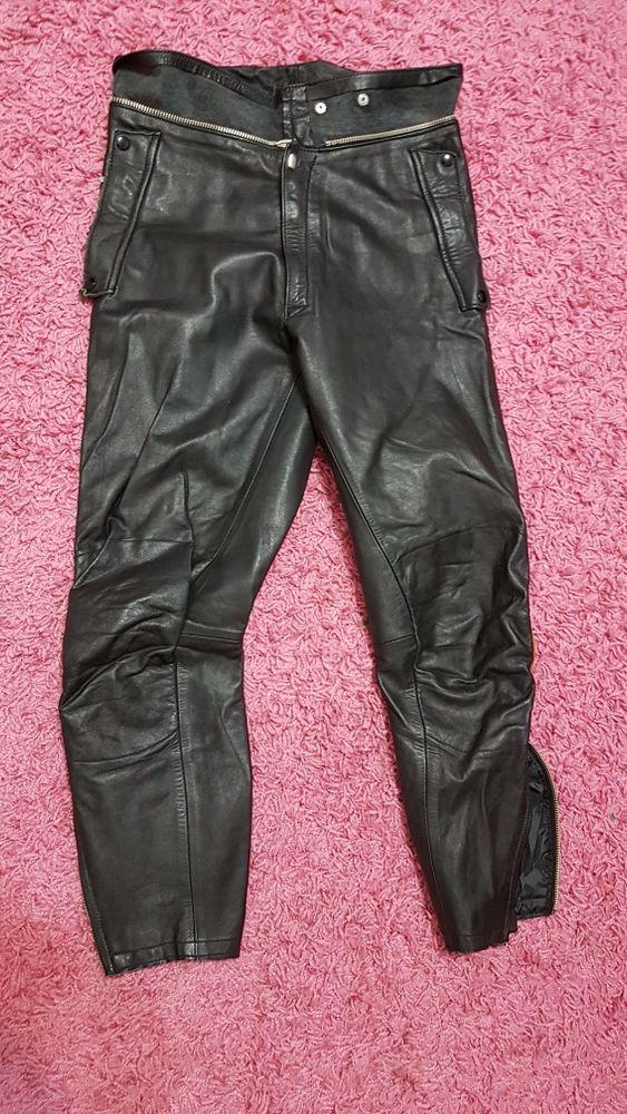 Skórzane spodnie motocyklowe damskie r.36-38 Moskorzyn - image 1