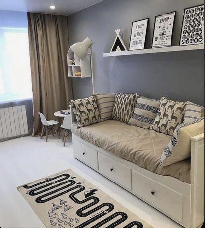 Ліжко Ikea Hemnes двоспальне 209*91 розкладне з матрацом