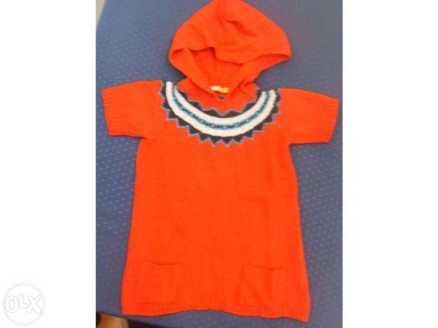 Camisola lã com capuz tam 5 anos - Oferta de luvas