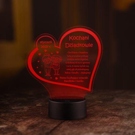Dla DZIADKA DZIEŃ Babci statuetka LED grawerowana