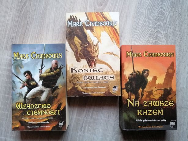 Wiek złych rządów - Mark Chadbourn komplet książki fantasy fantastyka