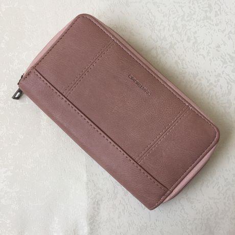 Новый женсаий кошелек на змейке розового цвета