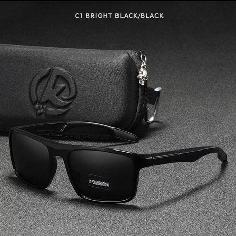 Модные поляризационные солнцезащитные очки от бренда Kdeam ( Black)