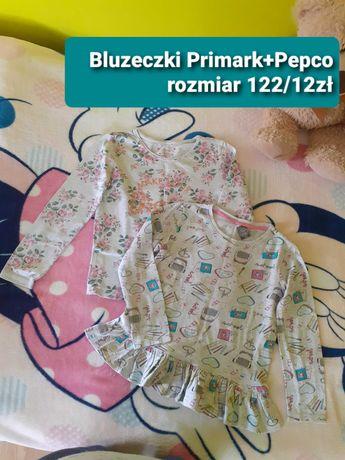 Bluzeczki bawelniane rozmiar 122-128