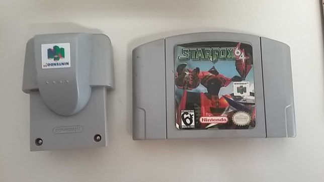 Jogo Star Fox 64 + Rumble Pak N64 (a funcionar)