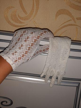Винтажные ажурные перчатки.