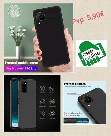 Capa Silicone Slim Huawei P40/P40 Lite/P40 Lite E/P40 Pró C/Prot. Cama