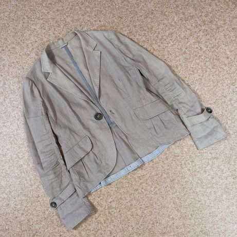 Льняной жакет пиджак Brunello Cucinelli (46/M)