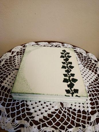 Drewniane zdobione pudełko na prezent/imieniny/urodziny-decoupage