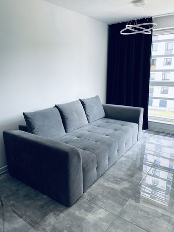 Sprzedam szara zamszowa sofe BRW w stanie idealnym
