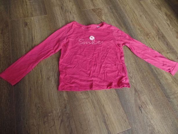 Różowa śliczna bluzka Smile :) długi rękaw rozmiar 110