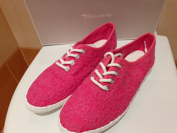 TAMARIS r.37 buty sneakersy niskie fuksja. Tylko przymierzone Cena - 6