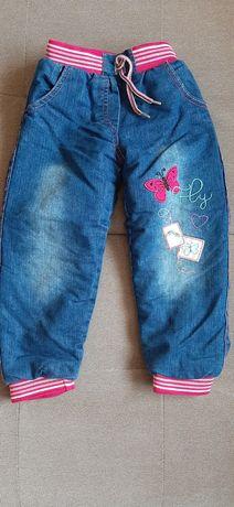 Утеплені джинси для дівчинки 2-3 роки