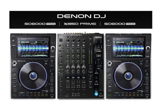 DENON DJ 2x SC6000 + X1850 PRIME mikser z playerami zestaw event DJ