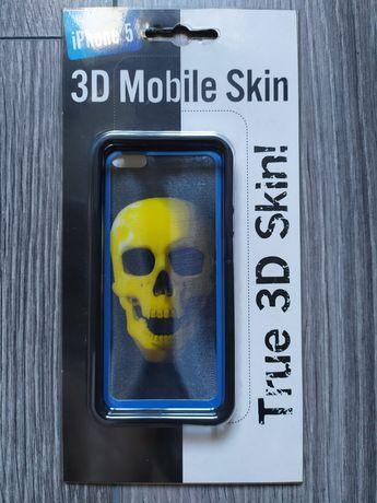 Etui pokrowiec silikonowy iPhone 5 3D czaszka